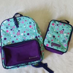 AMERICAN GIRL BACKPACK AND LUNCH BAG